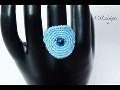 Spiral macrame ring - YouTube