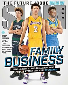 dcc032c58 2 overall draft pick Lonzo Ball and younger brothers LiAngelo and LaMelo  appear on the cover of SLAM magazine s newest issue