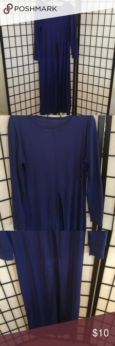 Maxi Longsleeve Blouse Maxi Blouse With Front Split Openings Slightly Worn Once Looks Beautiful With Jeans Or Leggings Tops Blouses