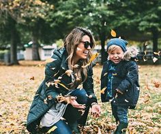 mom goals adorable fall family photography shoot with the little one and mom playing in the crisp crunchy autumn leaves Mommy And Son, Mom Son, Fall Pictures, Fall Photos, Foto Baby, Jolie Photo, Fall Family, Baby Kind, Mom Style