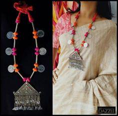 Personalized Sterling Silver Name Necklace Trendy Jewelry, Tribal Jewelry, Fashion Jewelry, Silver Jewelry, Jewelry Trends, Jewelry Art, Silver Rings, Thread Jewellery, Fabric Jewelry