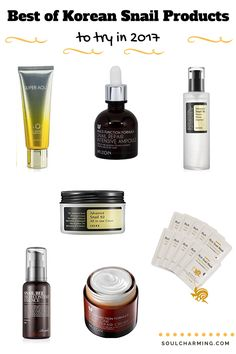The Best of Korean Cosmetics Snail Products. I'm a sucker for all sorts of Korean beauty products with snail mucin (slime) and here's my picks of the best of them (so far).