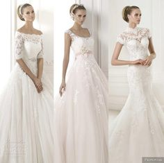 Our editor's top wedding dress picks from Pronovias 2015 Glamour Bridal Collection.