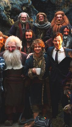 Hobbit Cast. :) I think it's funny that everyone except for Benedict Cumberbatch is dressed up