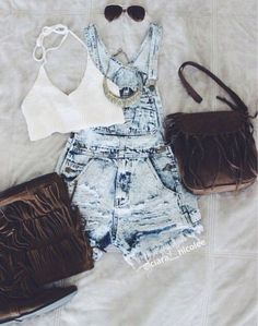 Girls Summer Outfits, Outfits For Teens, Trendy Outfits, Girl Outfits, Fashion Outfits, Mode Rockabilly, Look Con Short, Cosplay Outfits, Mode Outfits