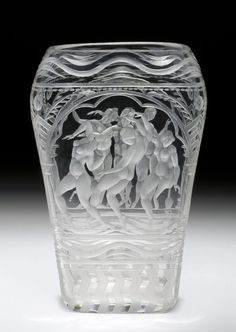 Vase Designed by Simon Gate Made by Orrefors glass factory 1927