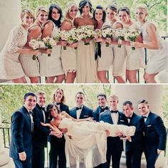 The Bride with her maids and groomsmen (: