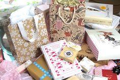 pretty gifts - ideas from A Model Recommends.  Also good for birthdays or other occasions