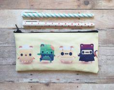 Breakfast Bears Alphabear Small Zipper Pouch by kukubee on Etsy