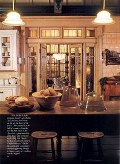 The kitchen's work table of the practical magic house.