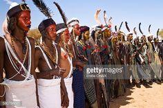 Stock Photo : West Africa, Niger, Agadez Province, Agharous village, the Aïr festival, the Bingawa Peul dancers