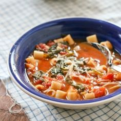 Heart-warming Tomato Florentine Soup- a perfect match to grilled cheese!