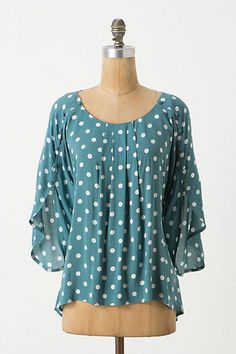 Ooh I love the colour and the ease of it. It might be too billowy for me but I can dream.    Braxton Top - Anthropologie.com