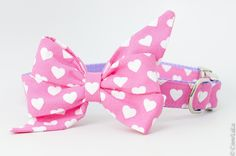Hearts All Over Belle Bow Dog Collar – Crew LaLa Blue Great Danes, Diana, Valentines Day, Valentines Hearts, Goldendoodle, Southern Style, Fur Babies, Collars, Pup