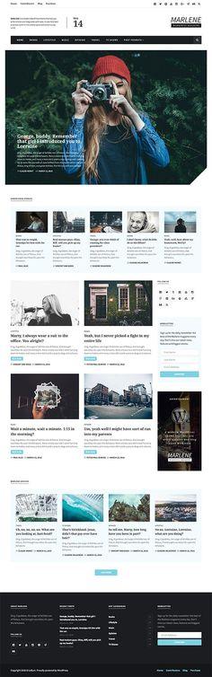 Marlene - Magazine and Personal Blog WordPress Theme  #Wordpress #theme #Magazine #Blog