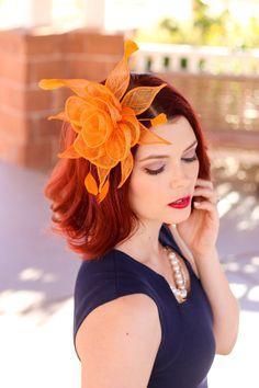 11 Best Orange Fascinator images  d25795effd1