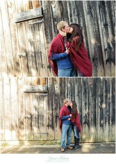 Rustic Fall Engagement---just an example of nice natural wood exposure