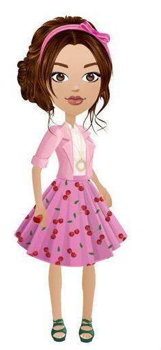 Wearing the cherry skirt(: