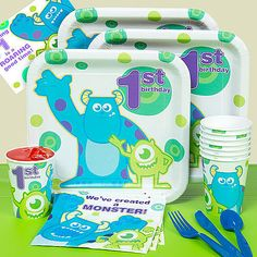 1st Birthday Monsters Party Pack: Party Supplies : Walmart.com