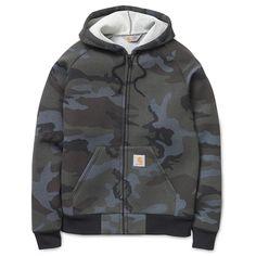 Carhartt WIP Car-Lux Hooded Jacket - Camo Marine/Grey