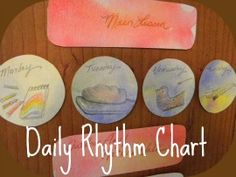 My Daily Rhythm Chart.  This has really helped us stick to our rhythm better.