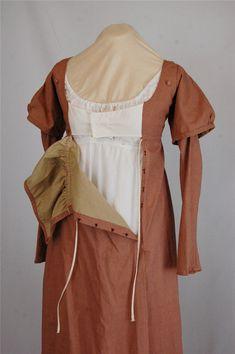 Regency Dress Ready to Ship Burgundy Cotton by AtlantaGoodwin