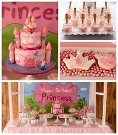 Peppa Pig Princess themed birthday party via Kara's