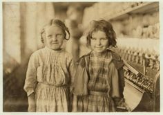 Cotton Mill Girls, Tifton, Georgia, 1909. Photo: Lewis Wickes Hine. Lewis W. Hine's  (1874 – 1940) photographs are credited with bringing to the national consciousness the plight of child laborers in early twentieth century America. Social historians consider these images a major influence on much-needed child labor reform.