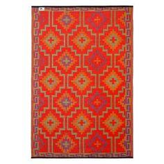 Fab Habitat World Lhasa Orange & Violet Reversible Indoor/Outdoor Area Rug Rug Size: 5' x 8'