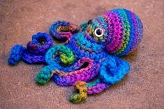 crochet octopus friend - mini giant soft merino blue aqua purple green. $68.00, via Etsy. NO PATTERN