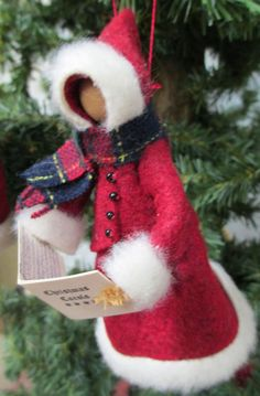 Christmas Caroler Ornament Handmade by ModerationCorner on Etsy