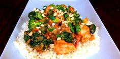 Stir-fried Chicken and veggies with Peanut Sauce