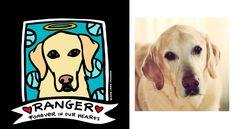 Ranger: Custom Memorial Pet Portrait Order ©2015 Anne Leuck Feldhaus AnnesArt.com