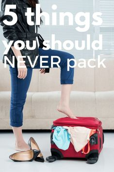 I love beautiful clothes, but not everything in my wardrobe is suitable for travelling. Here are 5 things you should never pack when travelling - and what to pack for travel instead #travel #travelplanning #packingfortravel #whattopack #womenstravel #packinglistsfortravel