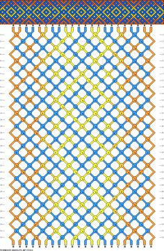 a friendship bracelet chart, but could work as a knitting chart too I think