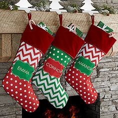 Make your home more festive this Christmas with the Preppy Chic Personalized Christmas Stocking. Find the best personalized Christmas gifts at PersonalizationMall.com