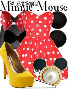 Minnie Mouse -- Disney Bound   CLICK THIS PIN if you want to learn how you can EARN MONEY while surfing on Pinterest