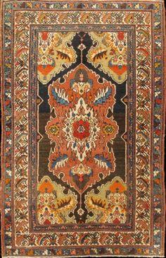 "KEIVAN WOVEN ARTS,   Type :Malayer Origin :Iran  Size : 3'5""x5'4""  Circa :1910"