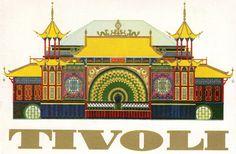 The Pantomime Theatre in Tivoli  Copenhagen - Denmark