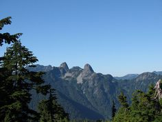 A view of the Lions in the distance from the Hollyburn Mountain trail