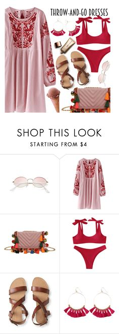"""""""Easy Outfitting: Throw-and-Go Dresses"""" by zaful ❤ liked on Polyvore featuring Aéropostale and Nude by Nature"""