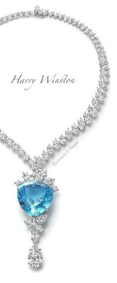Rosamaria G Frangini | High Blue Jewellery | TRS | Harry Winston  Paraiba tourmaline diamond drop necklace.