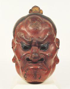 Gigaku Mask, Rikishi (Guardian), Wood with pigments and lacquer, Kamakura period… African Masks, African Art, Japanese Noh Mask, Kamakura Period, Japan Crafts, Masks Art, Sculpture, Nara, National Museum