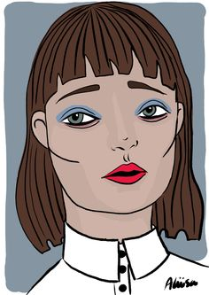 FACE 10 02/2016 copyright Aliisa Ahtiainen (iPad Pro, Apple Pencil, Procreate) Ipad Pro, Pencil, Apple, Drawings, Face, Illustration, Characters, Illustrations, Sketch