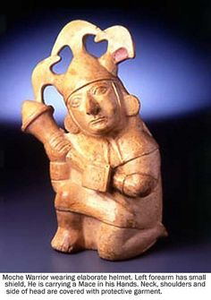 Mochica warrior wearing elaborate headdress, a necklace a   Flickr: Intercambio de fotos