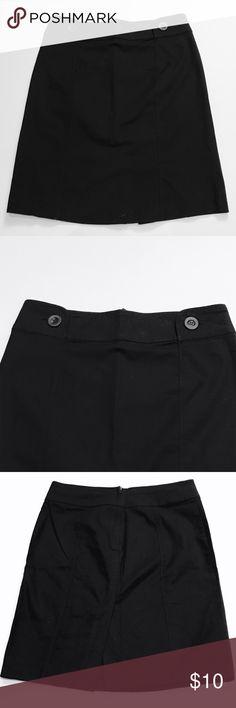 Black Pencil Skirt with back slit Black Pencil Skirt with back slit and cute buttons on waist. Material: 97% cotton, 3% spandex. Skirts Pencil