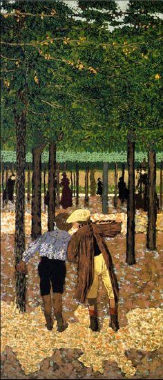 Edouard Vuillard / The Public Gardens,  Two Schoolboys