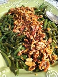 Sauted Green Beans with Garlic and Walnuts ~ So simple and So good!