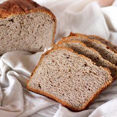 No Knead Strawberry Wheat Bread Loaf. vegan