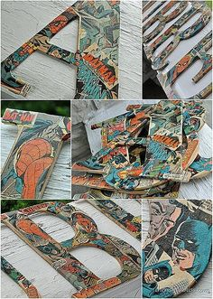 Superhero Comic Book Wall Letters | Community Post: 21 Geeky Projects Fit For A Superhero